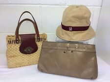 Etienne Aigner vintage 3 Item Lot.handbag straw Hobo, Hat, Clutch Handbag.