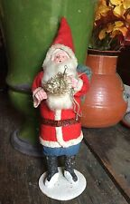 VINTAGE ANTIQUE celluloid face SANTA CLAUS FIGURE MADE IN JAPAN 9.5""
