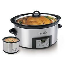 Crock-Pot Programmable 6-Quart Slow Cooker w/Dipper & Recipe Book