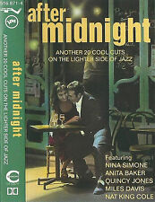 AFTER MIDNIGHT  20 COOL CUTS JAZZ MULDAUR SIMONE PINE AYERS MILES US3 CASSETTE