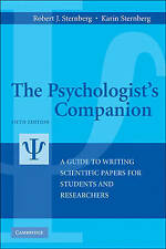 The Psychologist's Companion: A Guide to Writing Scientific Papers for-ExLibrary