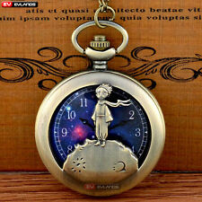 Vintage Necklace Litter Prince Quartz Pocket Retro Watch Pendant Chain Gift Mens
