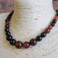 Graduated Agate Gemstone Bead Necklace - Choice of 6 colour - Fast Free Postage