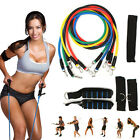 11Pcs Set Yoga Band Latex Resistance Tube Gym Fitness Pilate Exercise Workout
