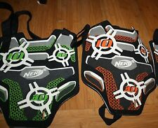 2 Nerf Vests Green & Orange Front Chest Target 3 Score Zones Free US ship