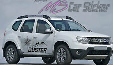 Dacia Duster Destination Aufkleber SET Sticker Allrad 4x4 Jeep Prestige Tattoo 1