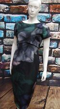 COAST FLORAL PRINT MULTI COLOUR LAYER DRESS SIZE 12