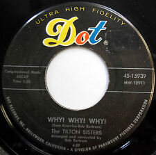 THE TILTON SISTERS 45 Why! Why! Why! / Billy TEEN Country BOPPER Dot e1813