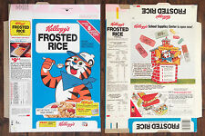 Vintage 1980 1980's Kellogg's Frosted Rice Cereal Box Flat 80's Tony Tiger Jr.