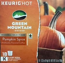 18 Green Mountain Coffee Pumpkin Spice K-Cups -  KEURIG K-Cup Pods - Aug-12-2018