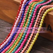 Wholesale 4mm/6mm Opaque Coated Colors Bicone Faceted Glass Loose Spacer Beads