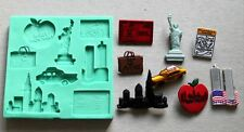 Silicone Mould NEW YORK Sugarcraft Cake Decorating fondant fimo mold