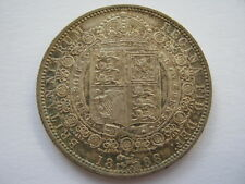 1888 Victoria Jubilee Head Half Crown GEF rim nicks