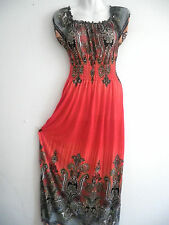 New Women Long Maxi summer beach party hawaiian Boho evening sundress dres L/XL