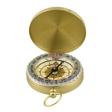 G50 Brass Pocket Watch Style Outdoor Camping Hiking Compass Navigation Keychain