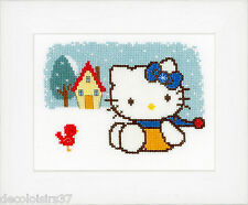 Vervaco  0148648  Hello Kitty  L'hiver  Kit  Broderie  Point de Croix  Compté