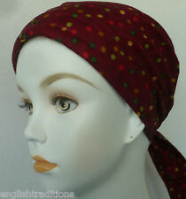 English Tradition Chemo Cancer Hat HeadWrap HairLoss Bad Hair Day Cotton Scarves