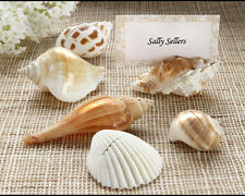 96 Shell Placecard Holders with Matching Placecards Beach Theme wedding favors