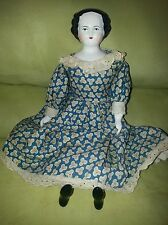"""ANTIQUE ORIGINAL RARE GERMAN PORCELAIN DOLL 14 1/2"""" TALL OVER 100 YEARS OLD!"""