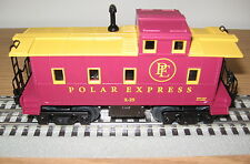 LIONEL POLAR EXPRESS PE RAILROAD CABOOSE O GAUGE TOY TRAIN CAR LIGHTED 6-30184