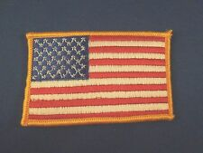 United States of America 50 Star American Flag Iron On Patch with Golden Edge
