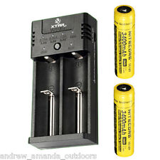 XTAR WP2H IntelliCharger w/ 2x Nitecore 18650 3400 mAh Batteries