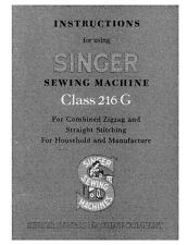 Singer 216G Sewing Machine/Embroidery/Serger Owners Manual