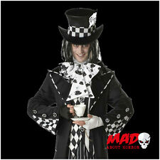 Deluxe Dark Mad Hatter Mens Halloween Fancy Dress Costume XL/Plus Size Fairytale