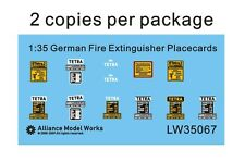 Alliance Model Works 1:35 WWII German Fire Extinguisher Placecards #LW35067
