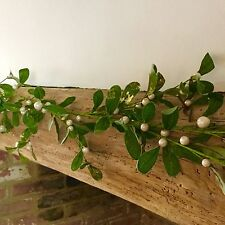 1.5m Artificial Mistletoe Garland Christmas Mantel Beam Decoration Gold Glitter