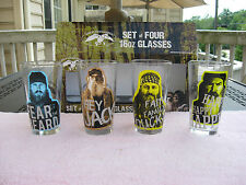 Duck Dynasty Duck Commander Set OF Four 16 Oz. Glasses`New In The Box!