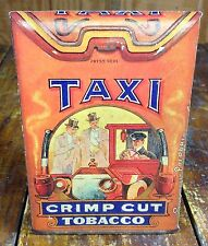 Taxi Car Driver Street Crimp Cut Tobacco Tobacciana Store Display Counter Sign