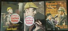 3 Sherlock Holmes DVDs - Dressed to Kill & 6 Episodes of Adventures of SH