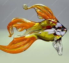 "FISH 3"" GLASS FIGURINE MURANO STYLE HAND BLOWN HIGH QUALITY"