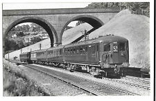 SR Down Eastbourne Electric Express on Quarry Line PPC, Pullman 3002 unposted RP