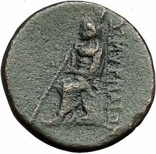 Smyrna in Ionia 75Bc Apollo Poet Homer Odyssey Iliad Ancient Greek Coin i55946