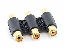 3-RCA Female to 3-RCA Female Coupler Gold-Plated GC-133