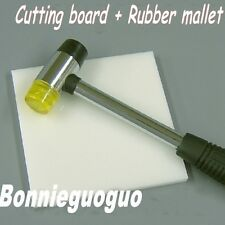 Cutting board Rubber mallet Mat Hammer Kit for Sewing Leather craft Light weight