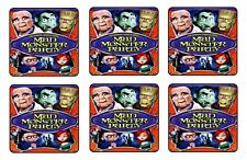 MAD MONSTER PARTY BEVERAGE COASTERS - 1/4 BAR & BEER SET OF 6 RETRO MOVIE