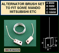 12 VOLT ALTERNATOR BRUSHES PLUS SOLDER  FOR SOME HITACHI  MANDO MITSUBISHI UNITS