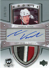 05-06 The Cup Thomas Vanek Auto Sick (4 clr) Jersey Patch Rookie Card RC 196/199