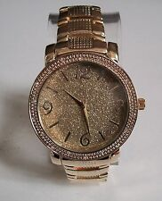 Designer style Men's hip hop glitter clubbing Gold finish bracelet fashion watch