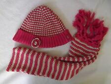 Pampolina Mütze und Schal  rosa pink weiß TOP fast neu