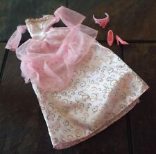 BARBIE DOLL CLOTHES - PINK PRINCESS GOWN, CROWN, SHOES