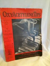 Vintage Magazine The Oxy-Acetylene Tips Linde Air Products 1943 July WW2 II Bond