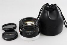 [EXC+++++] Minolta AF 50mm f/1.4 RS Lens w/ case  PL filter from Japan #814B