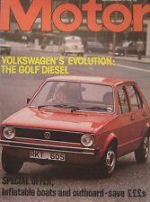 Motor magazine 6/5/1978 featuring VW Golf road test