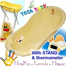 Large Baby Bath Tub with STAND + thermometer -102cm Happy Ducks-brand NEW Yellow