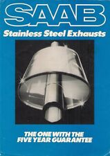 Saab Stainless Steel Exhaust Systems Early 1980s UK Market Leaflet Brochure