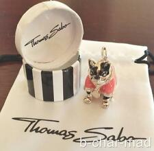 THOMAS SABO | AUTHENTIC Silver Pink Hip Hop / Disco French Bulldog - T0277-007-9